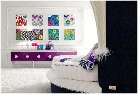 KITSCH OR POP ART BEDROOM DECORATION