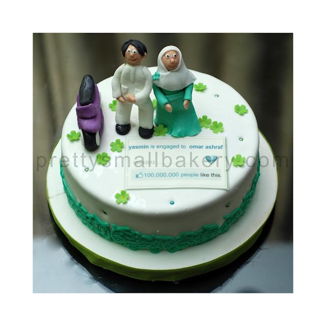 kek pengantin muslimah