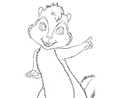#11 Alvin and the Chipmunks Coloring Page