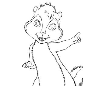 11 alvin and the chipmunks coloring page for Alvin coloring pages