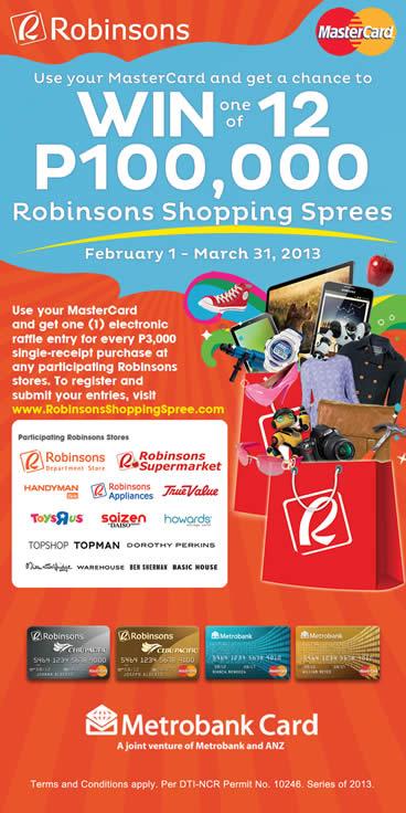 Robinsons-MasterCard Raffle Promo