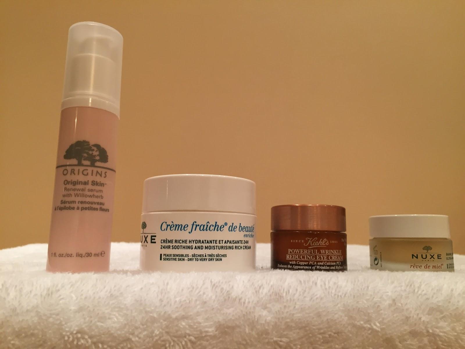 origins nuxe kiehls serum moisturiser lipbalm eye cream