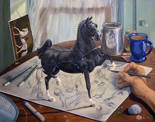 Caballos Pintura Surrealista