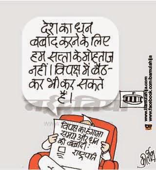 congress cartoon, bjp cartoon, corruption cartoon, parliament, cartoons on politics, indian political cartoon