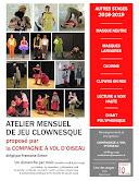 Les dimanches du clown / Atelier mensuel (octobre 2018 à juin 2019)