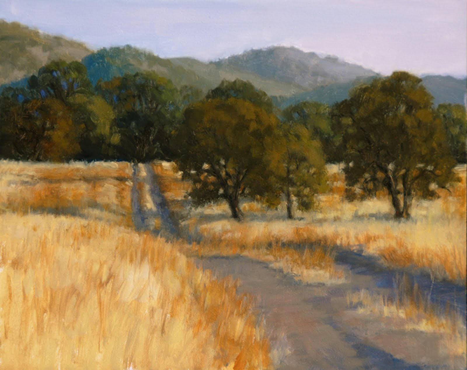 Lost Coast Daily Painters RANCH ROAD Oil Painting By