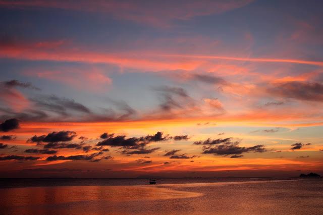 Ko Phangan sunset clouds sky