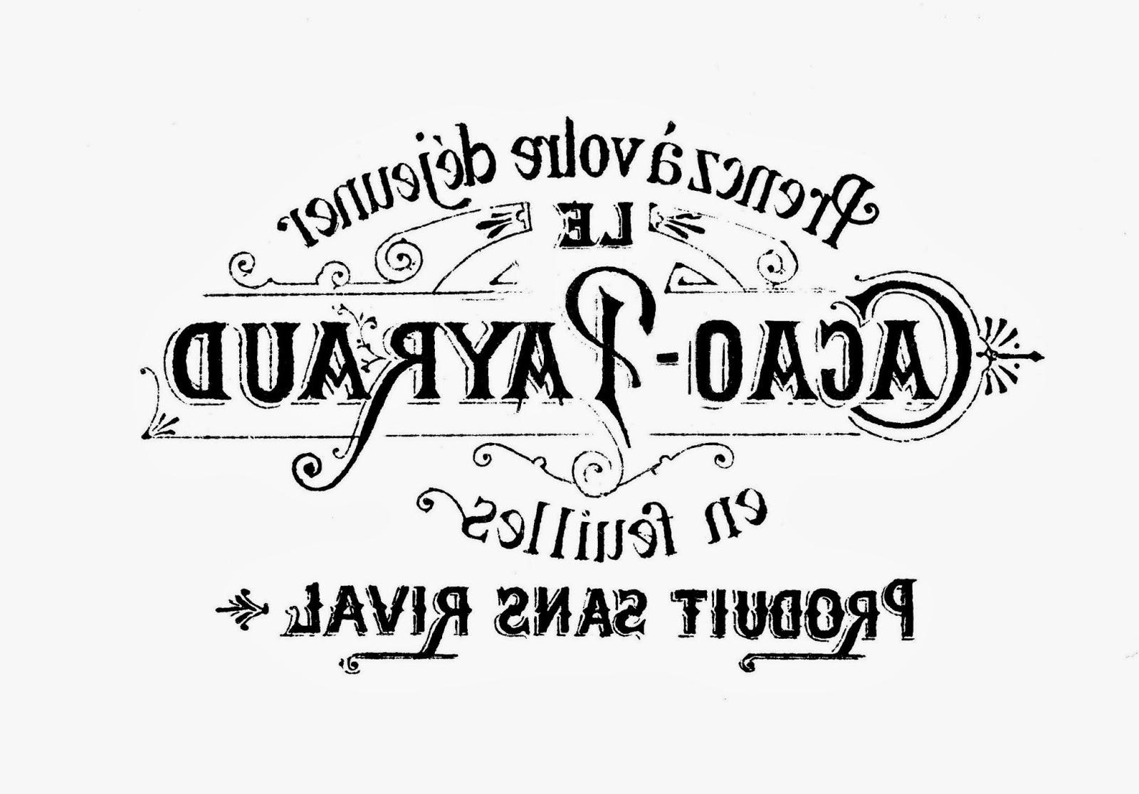 Redoem Vintage French Typography Tray Re Do