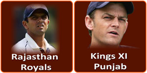 KXIP Vs RR is on 9 May 2013.