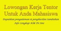 Info Lowongan Kerja Mahasiswa