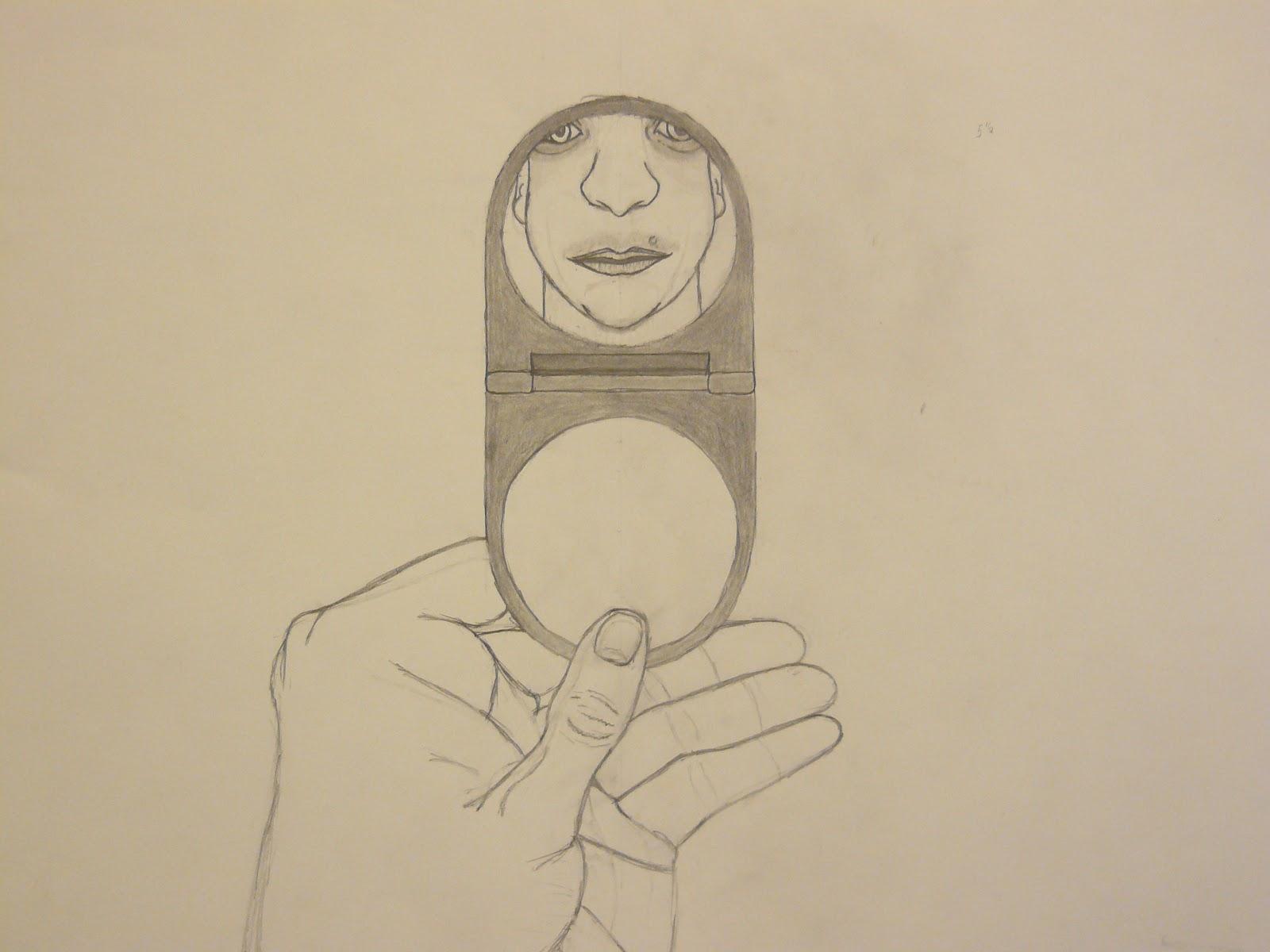 hand mirror sketch. Drawing I Class Hand Mirror Sketch