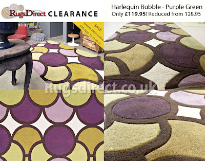 Harlequin Bubble/Facet > Bubble Purple Green - HA10-006 (160cm x 230cm)