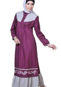 Manet Gamis - 3168 Ungu Tua (Toko Jilbab dan Busana Muslimah Terbaru)