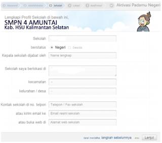 Cara Aktivasi Akun Operator Sekolah di situs untuk VerVal NUPTK 5