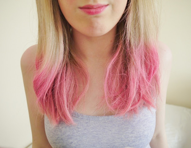 pink dip dye hair - emma bailey
