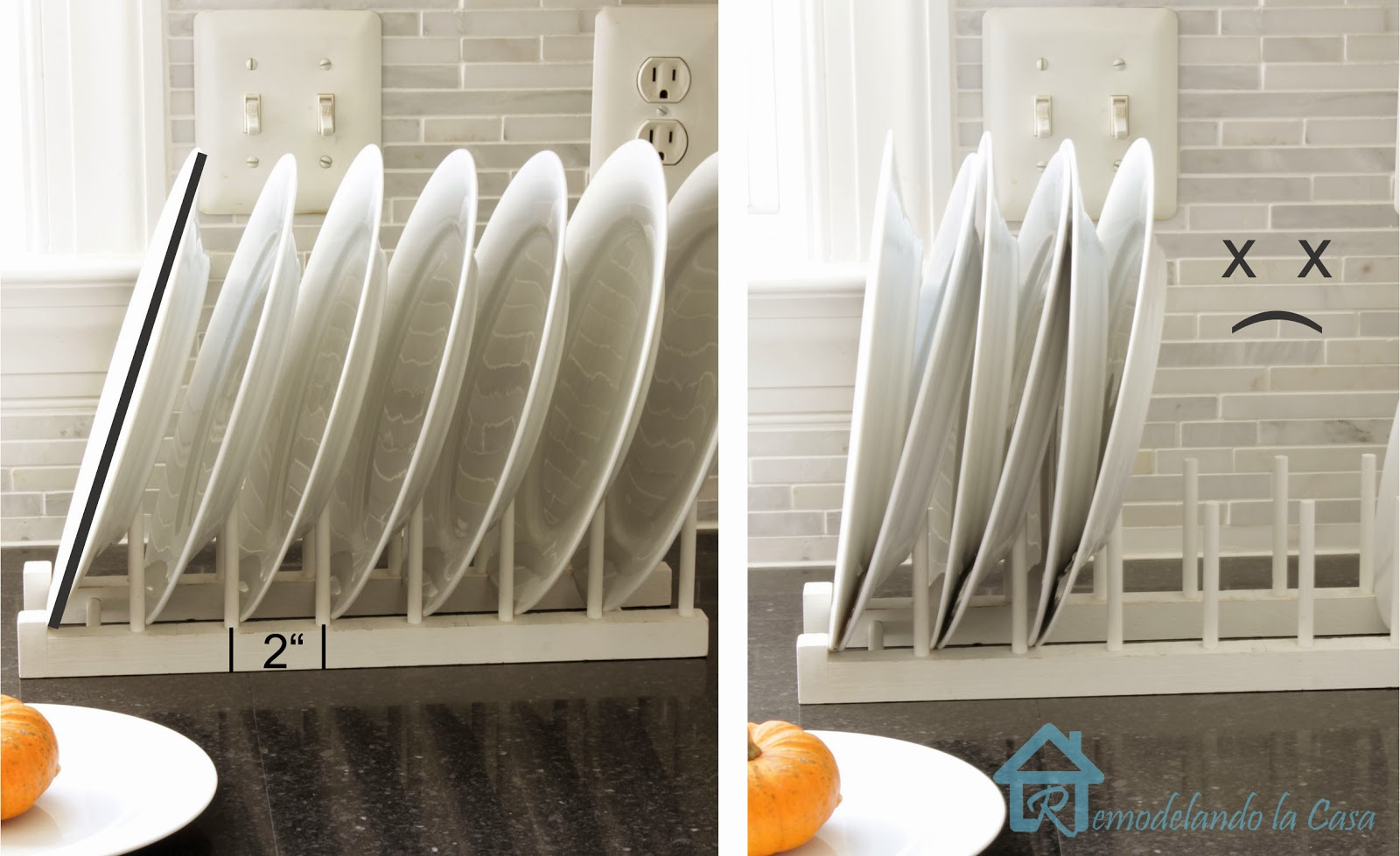 Easy to Build Plate Rack & Easy to Build Plate Rack - Remodelando la Casa