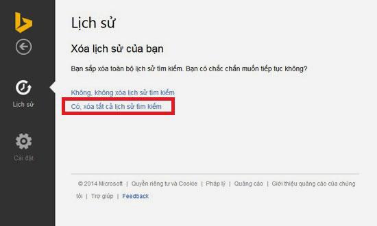Cách xóa lịch sử tìm kiếm trên Bing 6