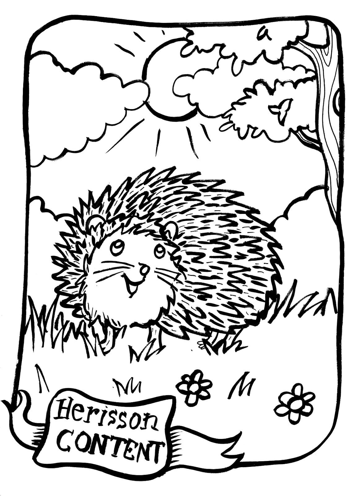 Herisson a colorier colorier les enfants - Herisson coloriage ...