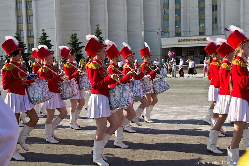 Барабанщицы. День города в Саранске