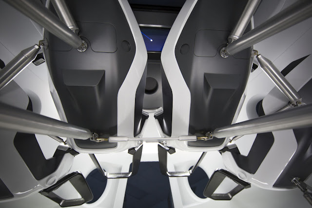 Crew Dragon's interior. Credit: SpaceX