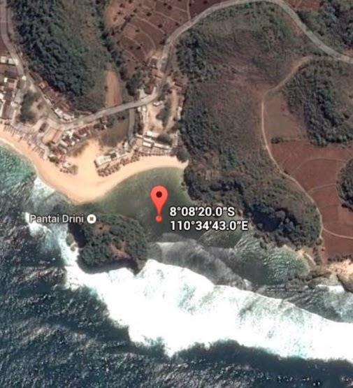 Koordinat Lokasi Pantai Drini_siparjo.com