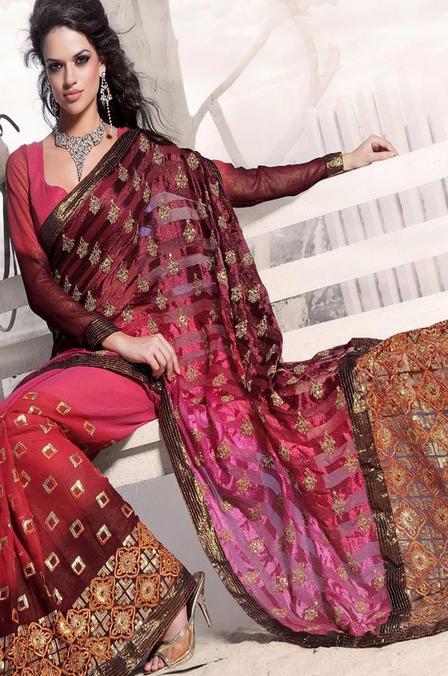 Zari Sarees Trends 2012 / Zardosi Sari