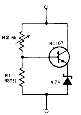 Variable Zener Diode Circuit Diagram