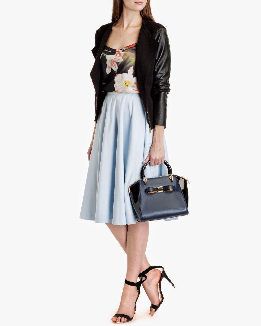 ted baker blue skirt