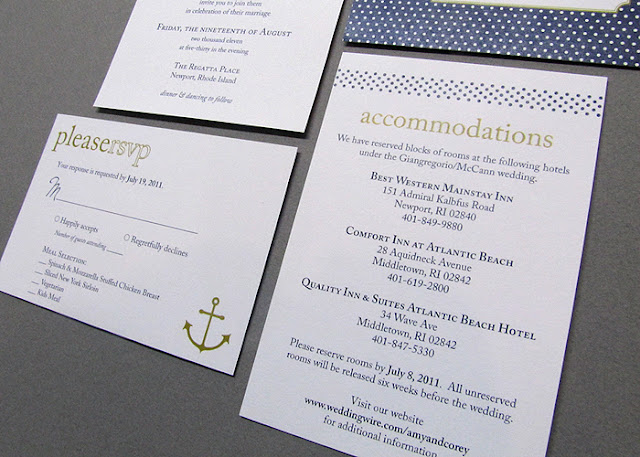 Wicked Bride Stationery Amy 39s Modern Nautical Wedding Invitations