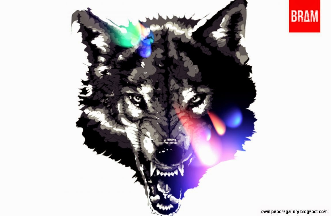 Amazing Wallpaper Abstract Wolf - pics-for-gt-abstract-art-black-and-white-wolf  Pic_40253 .jpg