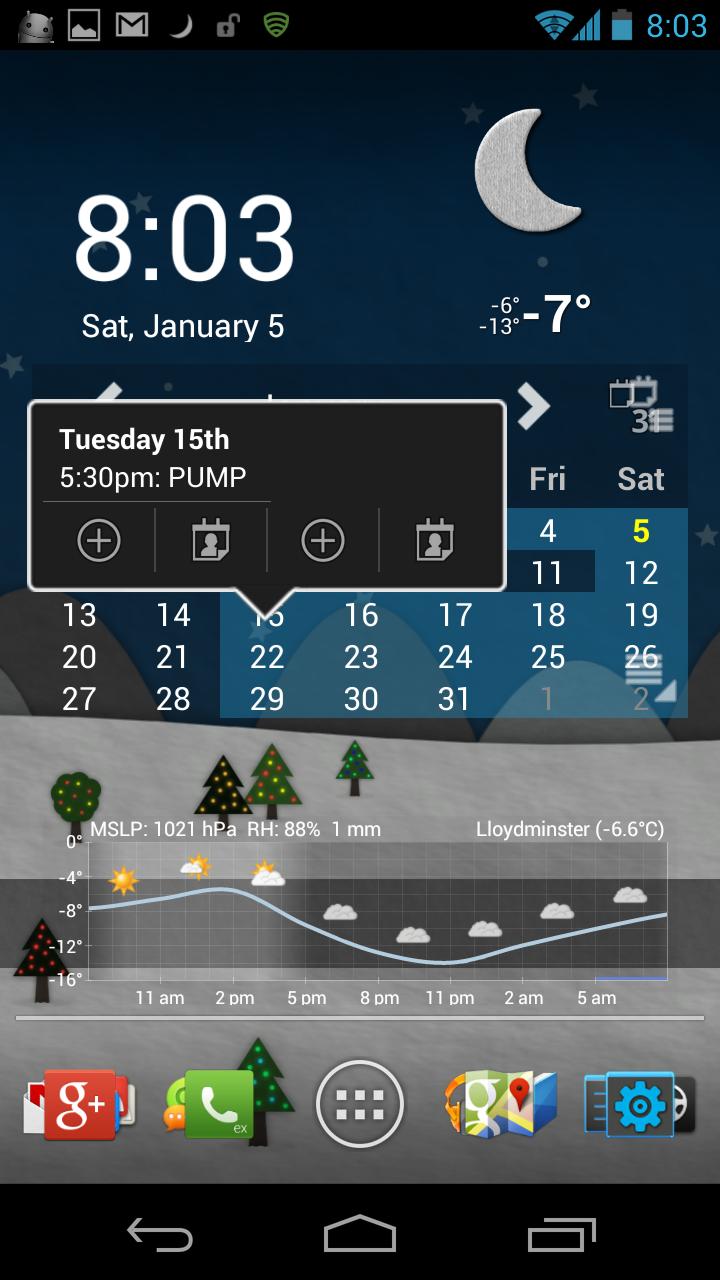 Календарь для андроид планшета
