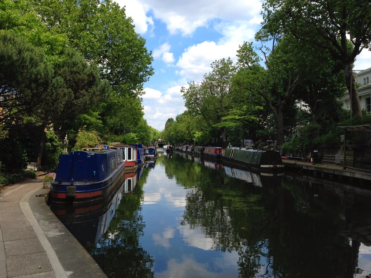 Barges on the Grand Union Canal, Little Venice, London W9