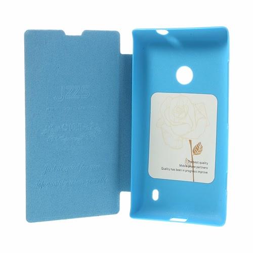 Oracle Grain Texture Slim Leather Flip Case for Nokia Lumia 520 525 - Baby Blue