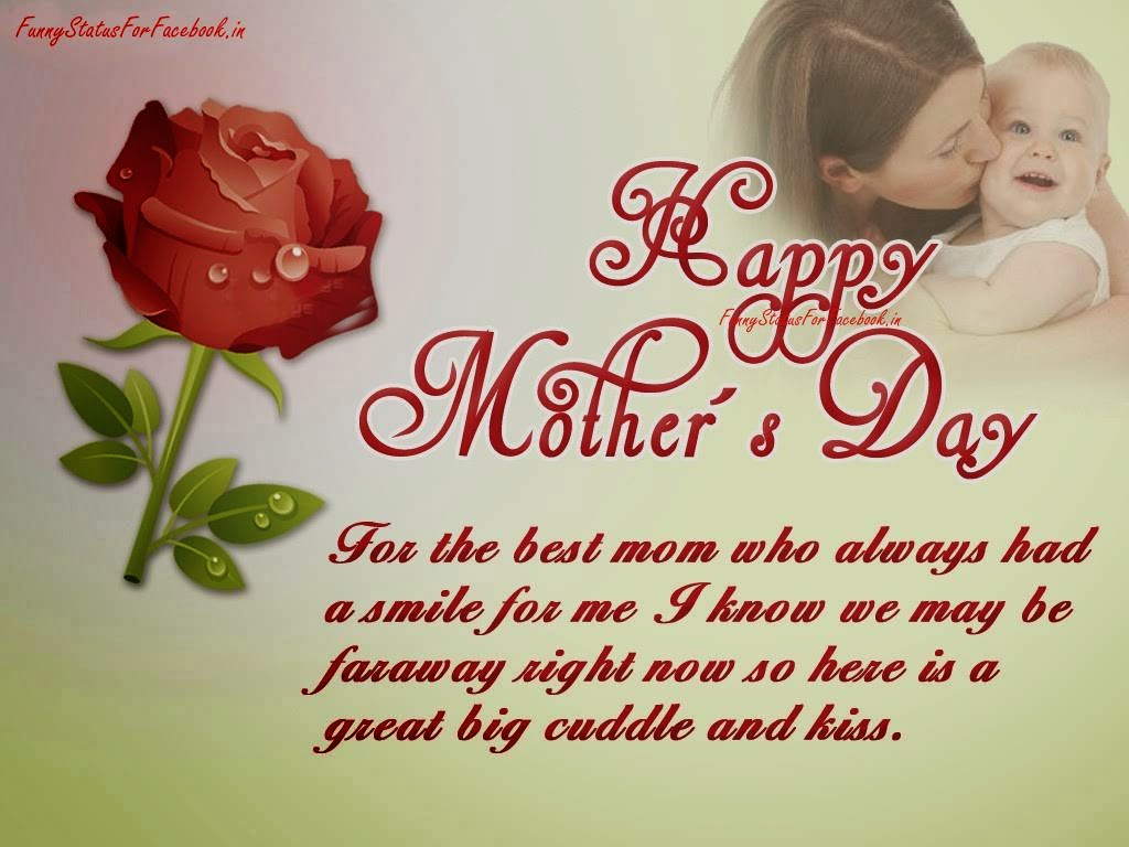 Mothers day Wishes Flower eCard Picture with Message Quote Free By Funnystatusforfacebook.in