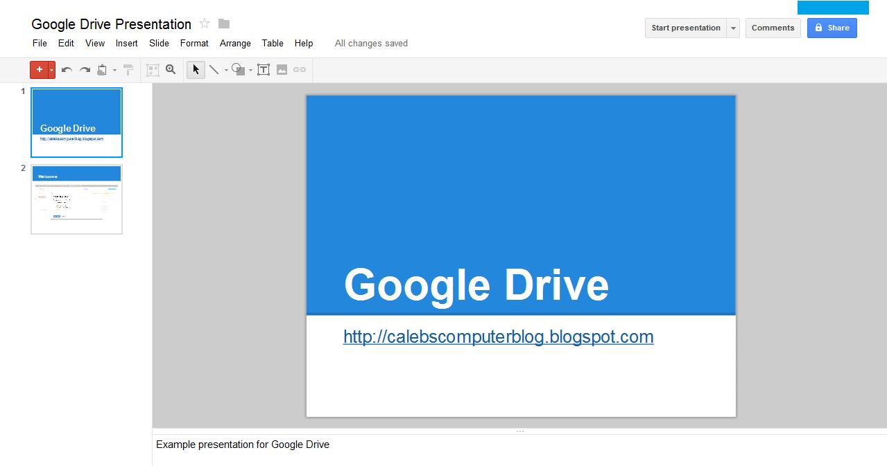Google drive review caleb39s computer blog for Google docs my drive