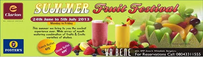 Summer Fruit festival Clarion hotel