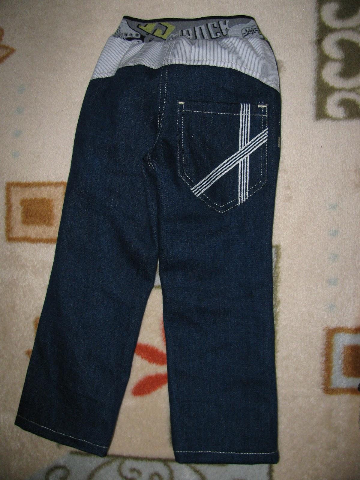 Сшить брюки на мальчика из старых джинс 2