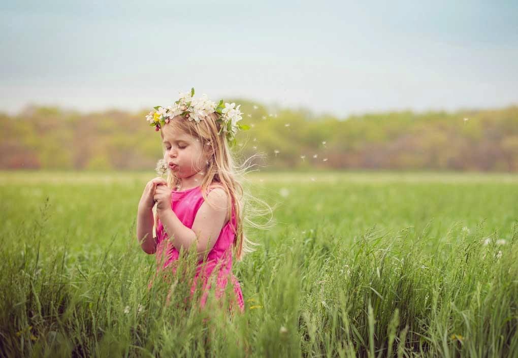 Cute Child in Pink Dress