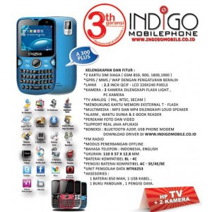 indigo mobile a300 plus dual on dan dual kamera Firmware Indigo A300