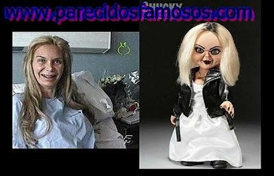Yola Berrocal mas uma foto con a novia de Chucky