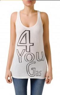 Camiseta blanco y negro GAS verano 2013