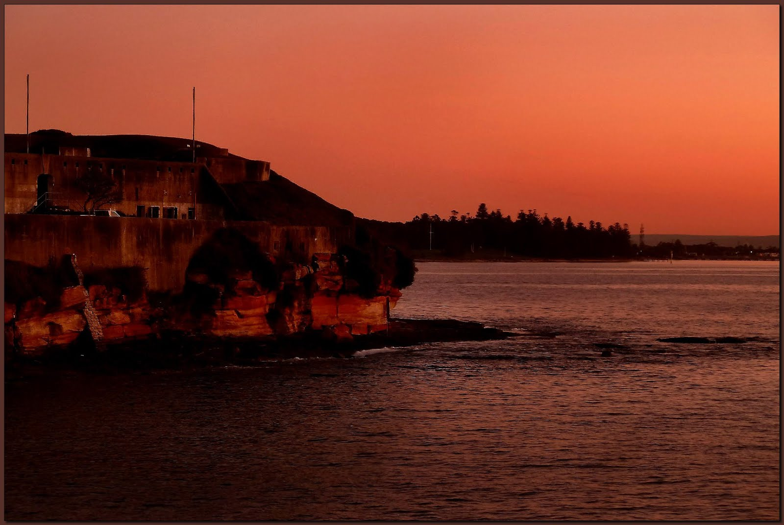 La Perouse po zachodzie słońca