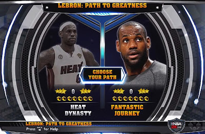 NBA 2K14 LeBron Path to Greatness Mode