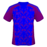Jersey Bola Warna Biru batik Ungu
