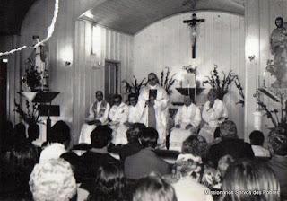 Foto antiga da Paróquia São José Trabalhador