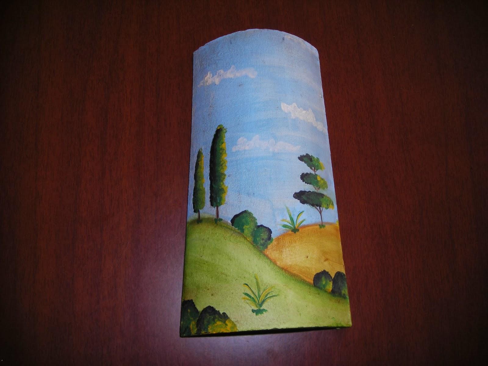 Chari y sus manualidades tejas navidad y teja reloj - Dibujos para pintar en tejas ...