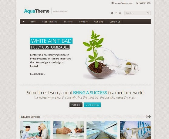 Aqua - Responsive HTML Template