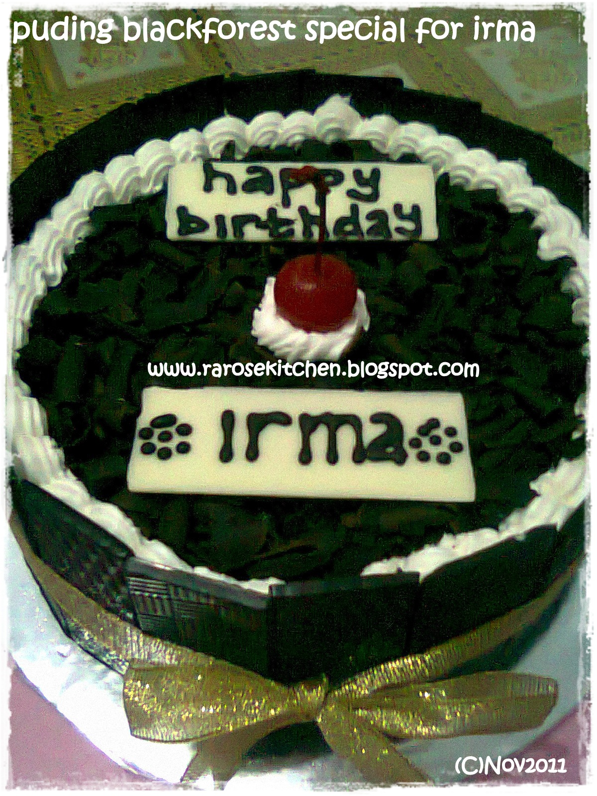 Puding Blackforest special for Irma b'day