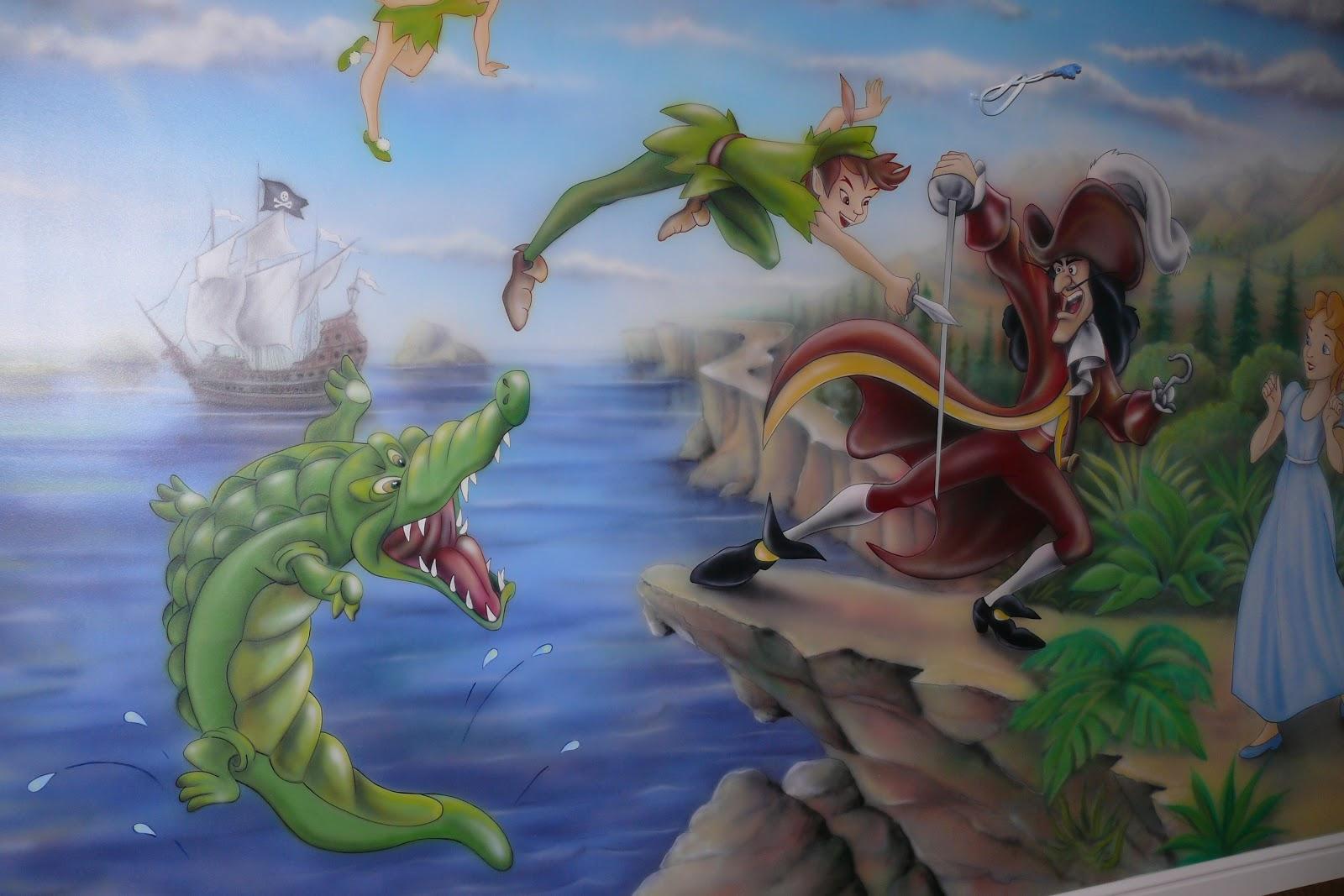 Malowanie pokoju chłopca, motyw Piotrusia Pana na ścianie. Wrszawa