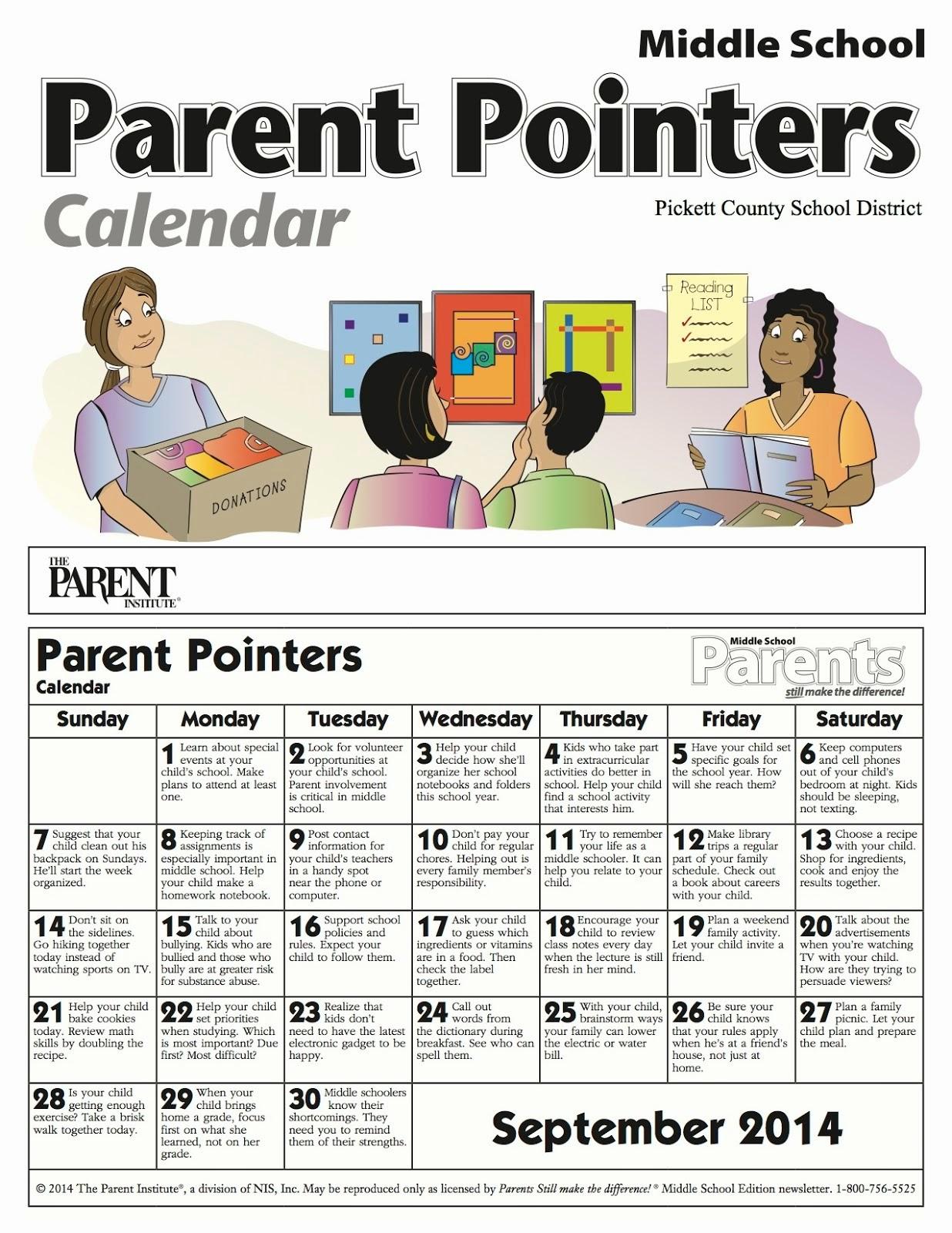 Parent Pointers Middle School